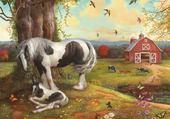 Puzzle maman et son poulain