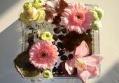 Puzzle en ligne assiette de fleurs