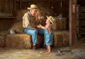 Jeux de puzzle : grand-papa &son petit fils