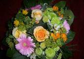 Puzzle bouquet rond