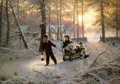 Puzzle gratuit promenade dans la neige