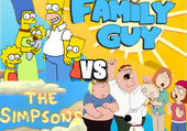 Jeu puzzle The Griffin VS The Simpson