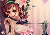 Puzzles Jeune fille à la rose