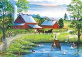 Puzzle jolie ferme