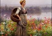 jeune femme dans les fleurs