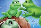 Puzzle amour de grenouilles