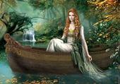 Puzzle jeune fille à la barque