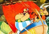 Puzzle en ligne Obelix en bateau