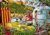 Jeu puzzle camping