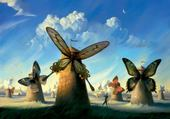 Puzzle Dali, les moulins