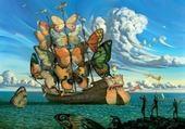 Puzzle Bateau aux papillons