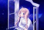 Jeux de puzzle : ange bleu