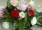 Jeu puzzle composition florale