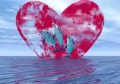 Puzzle Dauphin et coeur