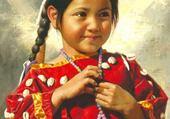 Puzzle en ligne Petite fille Amérindienne