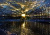 Puzzles coucher de soleil sur la rivière
