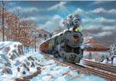 Jeu puzzle train vapeur
