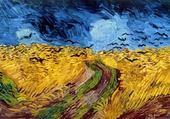 Puzzle champ de blé aux corbeaux