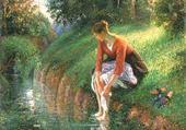 le bain de pieds - PISSARRO