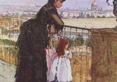 Jeux de puzzle : femme et enfant sur un balcon