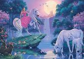 Jeu puzzle licornes