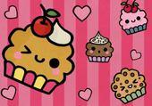 Puzzle cupcake