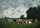 Puzzle Vaches par Eugène Boudin