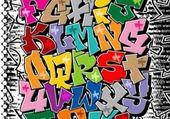 Puzzles l'aphabet en grafiti