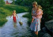 Jeu puzzle Baignade dans la rivière
