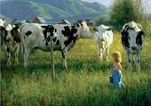 Jeux de puzzle : Au pré les vaches