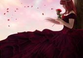 Jeux de puzzle : rose