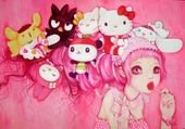 Puzzle hello kitty pink