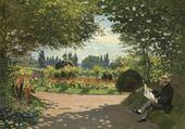 Puzzle gratuit homme dans un jardin - Monet