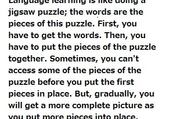 Jeu puzzle Language learning