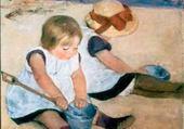 Puzzle fillettes à la plage - Cassatt