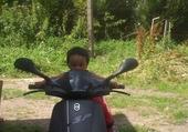 Puzzle Jeux de puzzle : kiki sur un scooter
