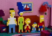 Jeux de puzzle : The Simpsons en Légos en Puzzle !
