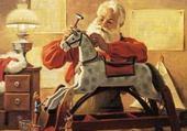 Jeu puzzle Le Père Noël dans son atelier