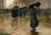 Puzzle sous la pluie - Childe Hassam