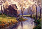 Puzzle peinture moulin