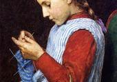 Puzzle fillette tricotant - J.A. Weir