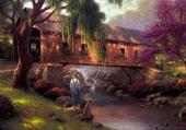 Jeux de puzzle : beau paysage