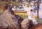 Jeu puzzle femme au bord de l'eau - Weir