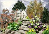 Puzzle maison et jardin