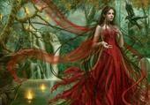 Jeux de puzzle : Femme en rouge
