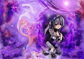 Puzzle en ligne Manga violet