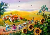 Jeux de puzzle : paysage
