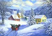Jeux de puzzle : paysage d'hiver