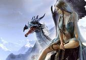Jeux de puzzle : Elfe dragon