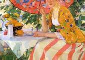 Puzzle dame au parasol - carl albert Bue